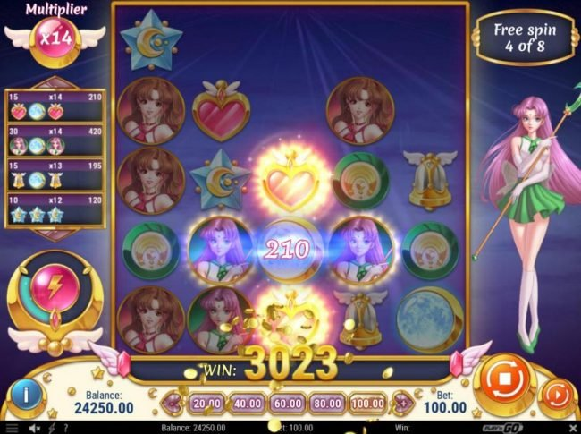 Vegas Hero featuring the Video Slots Moon Princess with a maximum payout of $500,000