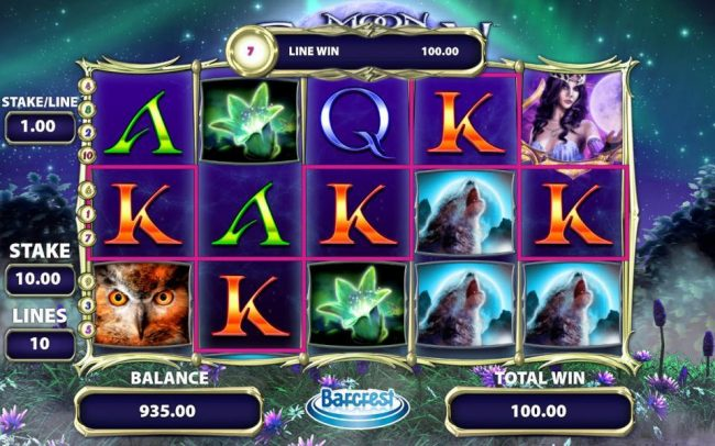 CasinoCasino featuring the Video Slots Moon Shadow with a maximum payout of $250,000