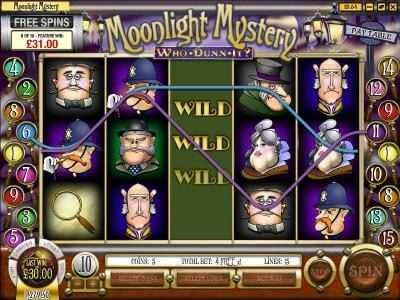 Winbig21 featuring the Video Slots Moonlight Mystery with a maximum payout of $10,000