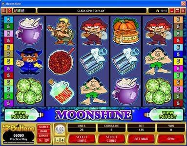 Play slots at Music Hall: Music Hall featuring the Video Slots Moonshine with a maximum payout of $200,000