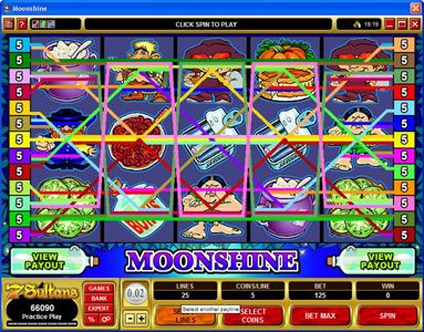 Play slots at Quatro: Quatro featuring the Video Slots Moonshine with a maximum payout of $200,000