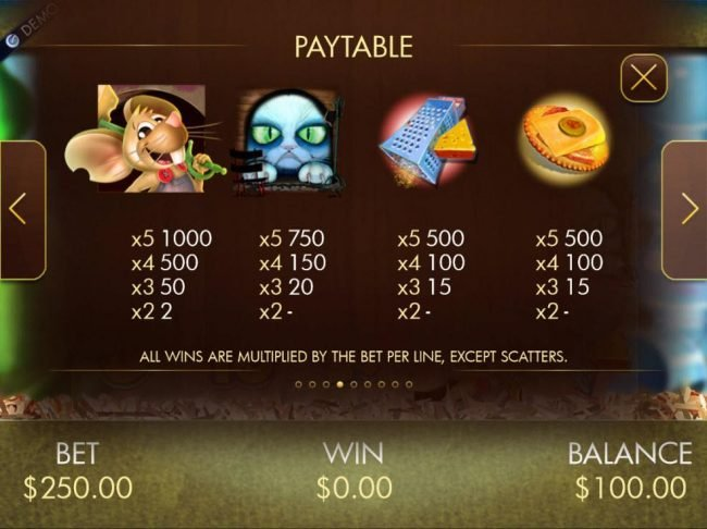 Jackpot Paradise featuring the Video Slots More Cheese, Please! with a maximum payout of $20,000