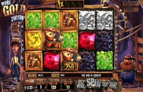 Riviera Play featuring the Video Slots More Gold Diggin' with a maximum payout of $31,250