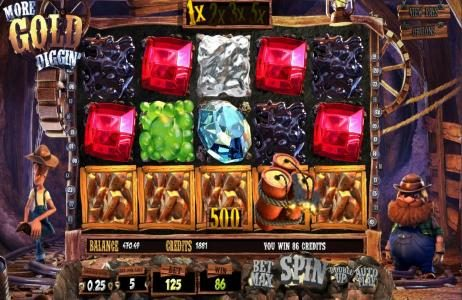Box24 featuring the Video Slots More Gold Diggin' with a maximum payout of $31,250