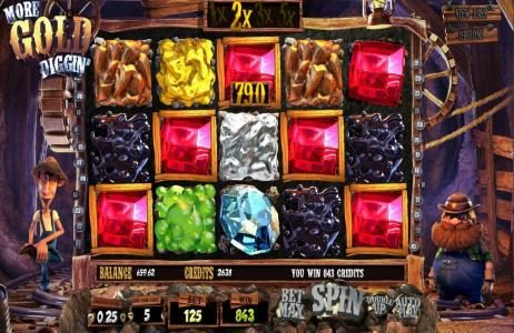 More Gold Diggin' :: 2x multiplier leads to a big win