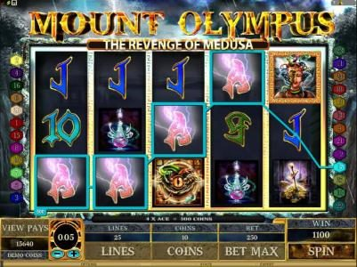 Jackpot Paradise featuring the Video Slots Mount Olympus - The Revenge of Medusa with a maximum payout of $10,000
