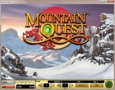 Sky Vegas featuring the Video Slots Mountain Quest with a maximum payout of $3,645,000