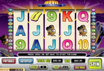 Miami Club featuring the Video Slots Movie Magic with a maximum payout of $50,000