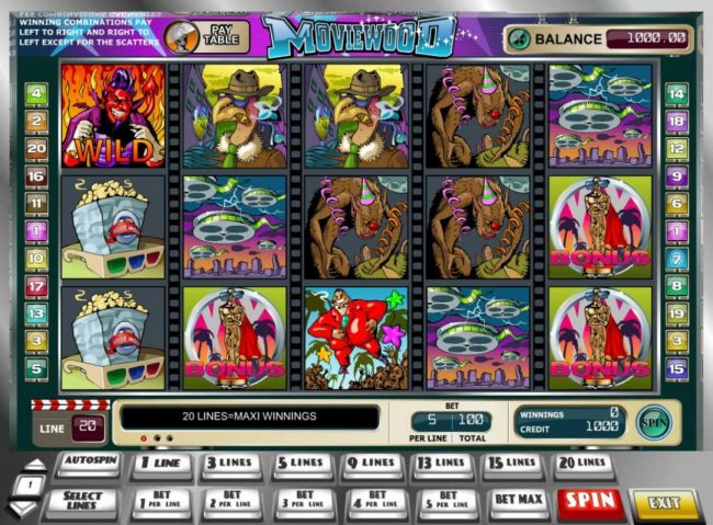 Play slots at 24K Casino: 24K Casino featuring the Video Slots Moviewood with a maximum payout of $25,000