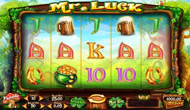 Mr. Luck :: Main Game Board