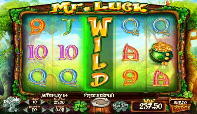 Mr. Luck :: Multiple winning paylines triggers a big win