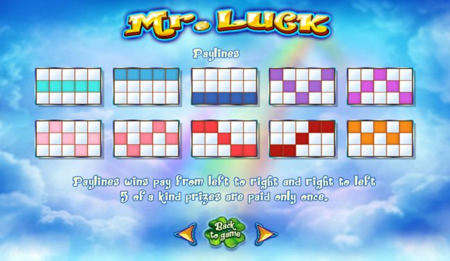 Mr. Luck :: Paylines 1-10