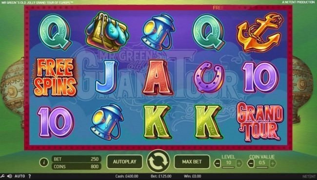 Play slots at Fruity Casa: Fruity Casa featuring the Video Slots Mr. Green's Old Jolly Grand Tour of Europe with a maximum payout of $590,000