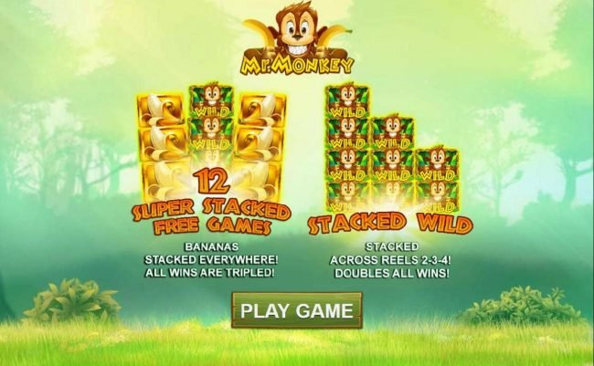 12 Super Stacked Free Games - Bananas Stacked everywhere! All wins are tripled!