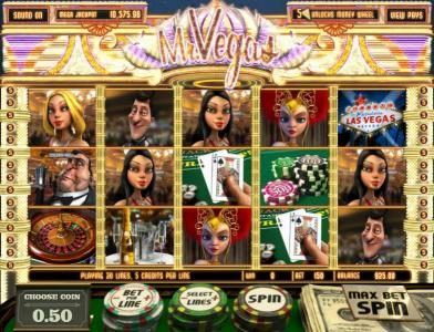 Rockbet featuring the Video Slots Mr. Vegas with a maximum payout of $7,500
