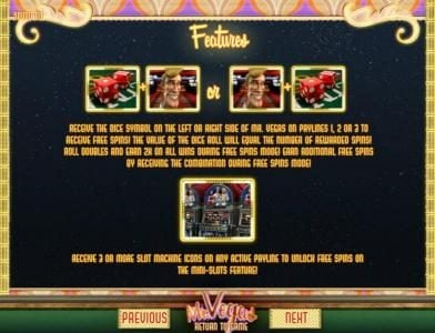 123 Vegas Win featuring the Video Slots Mr. Vegas with a maximum payout of $7,500