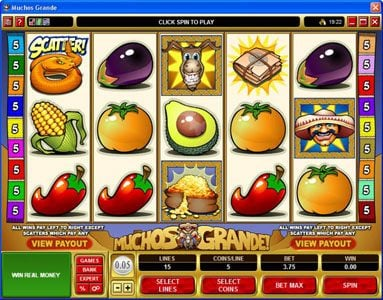 Sun Vegas featuring the Video Slots Muchos Grande with a maximum payout of $22,500