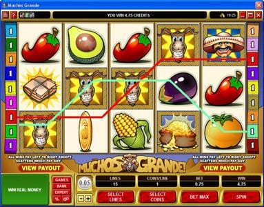 Casimba featuring the Video Slots Muchos Grande with a maximum payout of $22,500