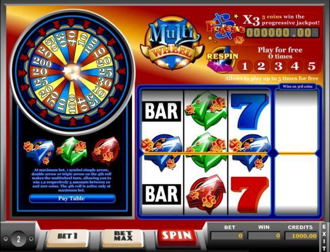 Play slots at Malina: Malina featuring the Video Slots Multi Wheel with a maximum payout of Jackpot