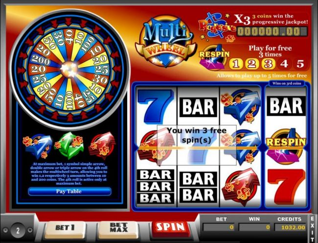 Tangiers featuring the Video Slots Multi Wheel with a maximum payout of Jackpot