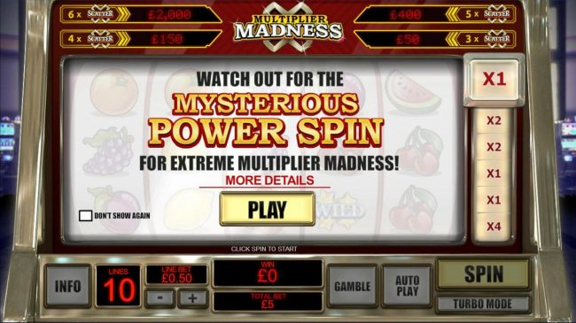 Watch out for the Mysterious Power Spin for extreme multiplier madness!