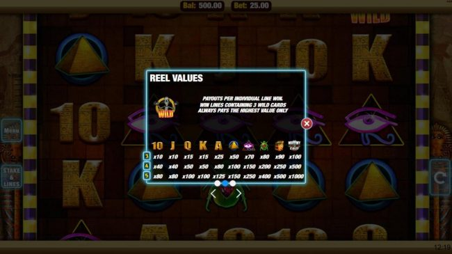 Mobireels featuring the Video Slots Mummy Gold with a maximum payout of $25,000