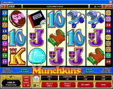 Omnia featuring the Video Slots Munchkins with a maximum payout of $75,000