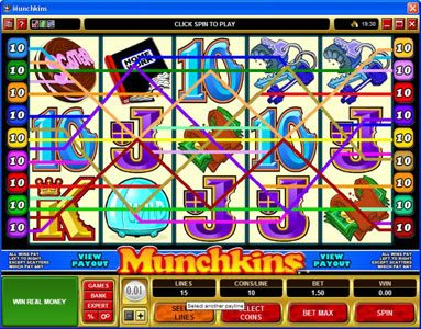 Intercasino featuring the Video Slots Munchkins with a maximum payout of $75,000