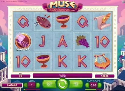 Play slots at Fun Casino: Fun Casino featuring the Video Slots Muse with a maximum payout of $5,000