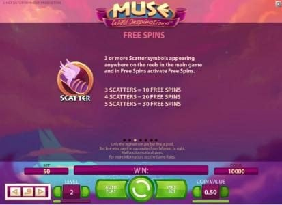 Rizk featuring the Video Slots Muse with a maximum payout of $5,000