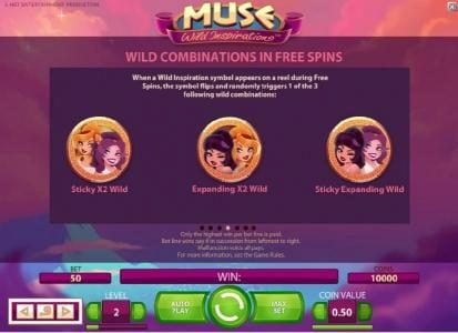 Hello featuring the Video Slots Muse with a maximum payout of $5,000