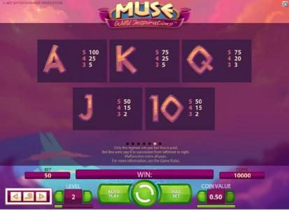 BGO Vegas featuring the Video Slots Muse with a maximum payout of $5,000