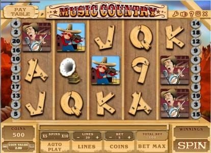 Play slots at Zet Casino: Zet Casino featuring the Video Slots Music Country with a maximum payout of $250,000
