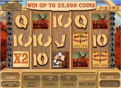 Buran featuring the Video Slots Music Country with a maximum payout of $250,000