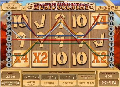 Joe Fortune featuring the Video Slots Music Country with a maximum payout of $250,000