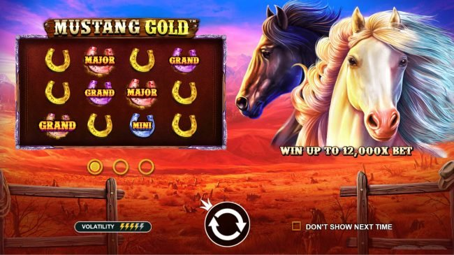 Play slots at Tangiers: Tangiers featuring the Video Slots Mustang Gold with a maximum payout of $60,000