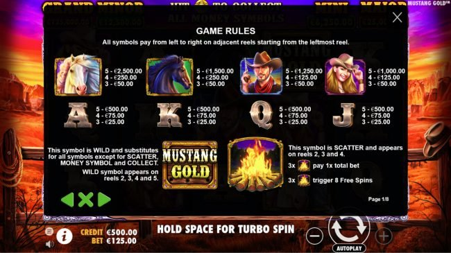 Yoyo featuring the Video Slots Mustang Gold with a maximum payout of $60,000