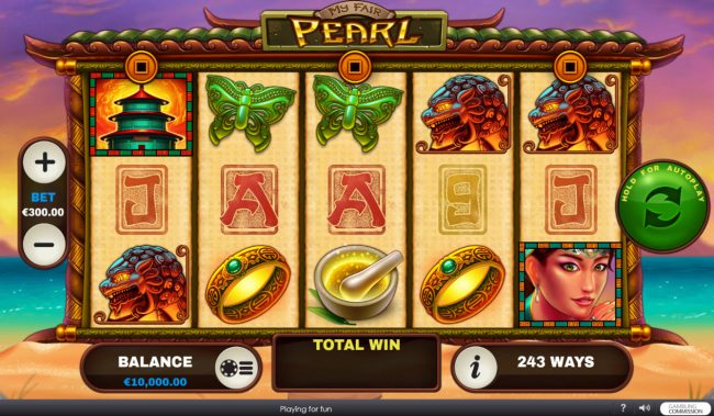 Euro Grand featuring the Video Slots My Fair Pearl with a maximum payout of $15,000