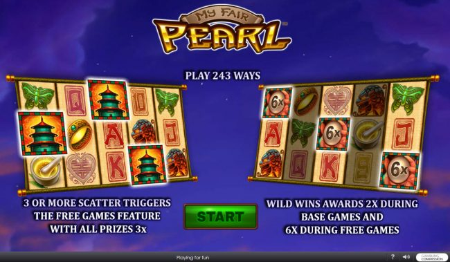 Play slots at Windows: Windows featuring the Video Slots My Fair Pearl with a maximum payout of $15,000