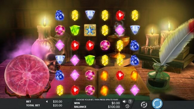 Stan James featuring the Video Slots Mysterious Gems with a maximum payout of $20,000