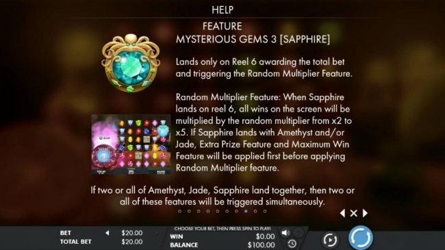 Sapphire Mysterious Gems Rules