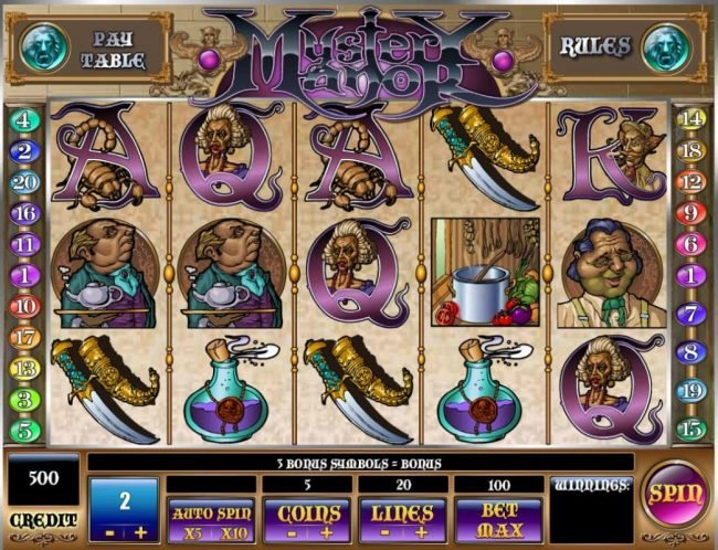 Play slots at Golden Crown: Golden Crown featuring the Video Slots Mystery Manor with a maximum payout of $200,000