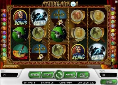 Play slots at Secret Slots: Secret Slots featuring the Video Slots Mystery At The Mansion with a maximum payout of $15,000