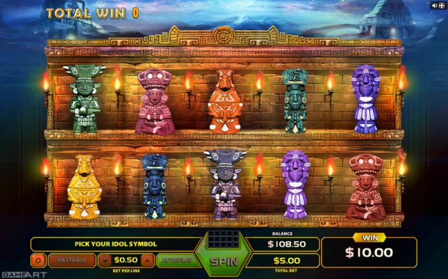 7 Gods Casino featuring the Video Slots Mystic Riches with a maximum payout of $4,500