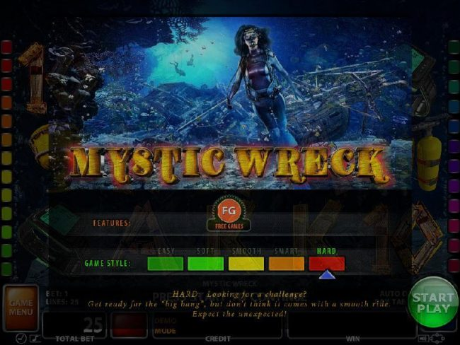 Play slots at 21 Nova: 21 Nova featuring the Video Slots Mystic Wreck with a maximum payout of $125,000