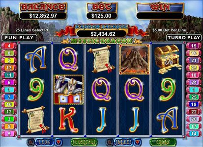 Cafe featuring the Video Slots Mystic Dragon with a maximum payout of $250,000