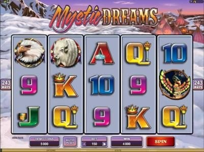 Play slots at Slotty Vegas: Slotty Vegas featuring the Video Slots Mystic Dreams with a maximum payout of $360,000