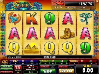 Play slots at Casinoval: Casinoval featuring the Video Slots Mystic Queen with a maximum payout of $1,250