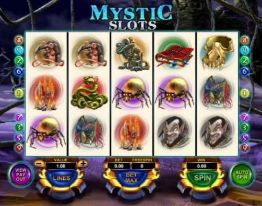 Play slots at 1BET: 1BET featuring the Video Slots Mystic Slots with a maximum payout of $25,000