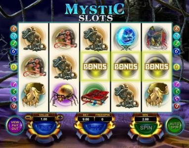 Casdep featuring the Video Slots Mystic Slots with a maximum payout of $25,000